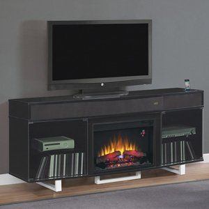Classicflame Enterprise Electric Fireplace Entertainment Center In Black 26mms9626 Nb157