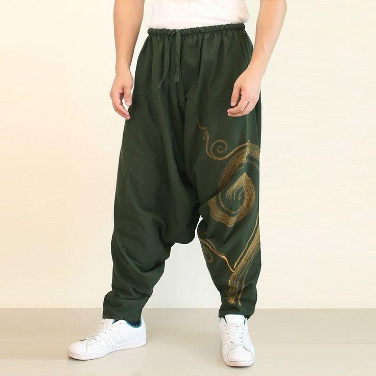 tribal logotipo verde del ejército pantalones harem pantalones harén - spanish.alibaba.com