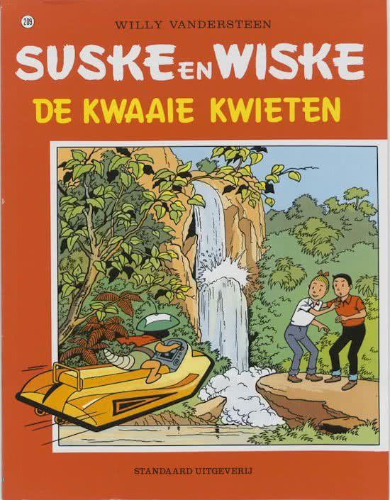 Suske en Wiske: De Kwaaie Kwieten (209): Als Krimson een ruimteschip heeft kunnen onderscheppen, wordt de aarde plots bedreigd door een ander ruimteschip. Op bevel van Barabas zoeken onze vrienden het schip en maken ze kennis met de Kwieten, die op zoek zijn naar hun soortgenoten die door Krimson ontvoerd zijn.