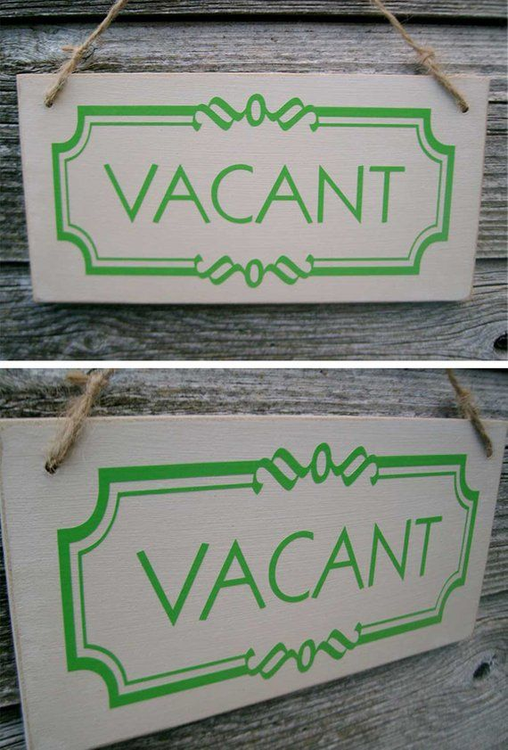Occupied Vacant Double Sided Bathroom Door Sign Toilet Etsy Banheiro
