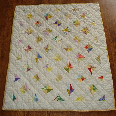 crazy square baby quilt block tutorial