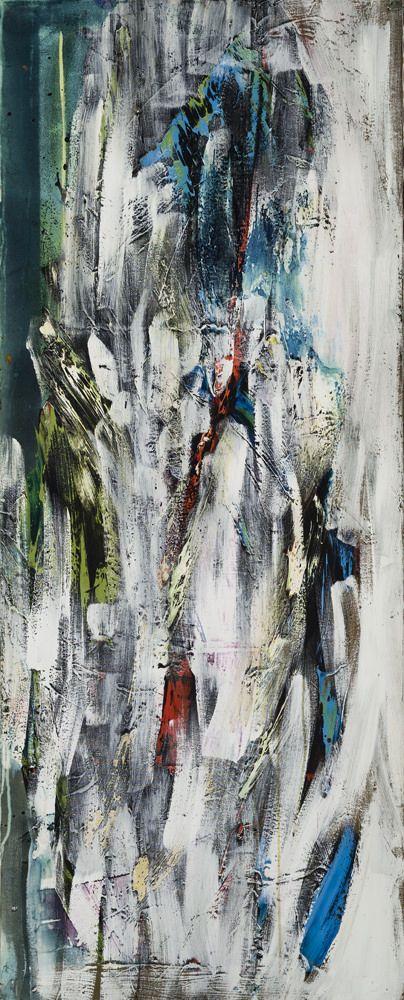 Sans titre (no197) - Marcelle Ferron - Galerie Simon Blais - 5420 St. Laurent blvd, Montreal. Follow the biggest painting board on Pinterest: www.pinterest.com/atelierbeauvoir