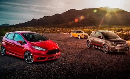 2014 Ford Fiesta ST vs. 2014 Fiat 500 Abarth, 2014 Mini Cooper S Hardtop