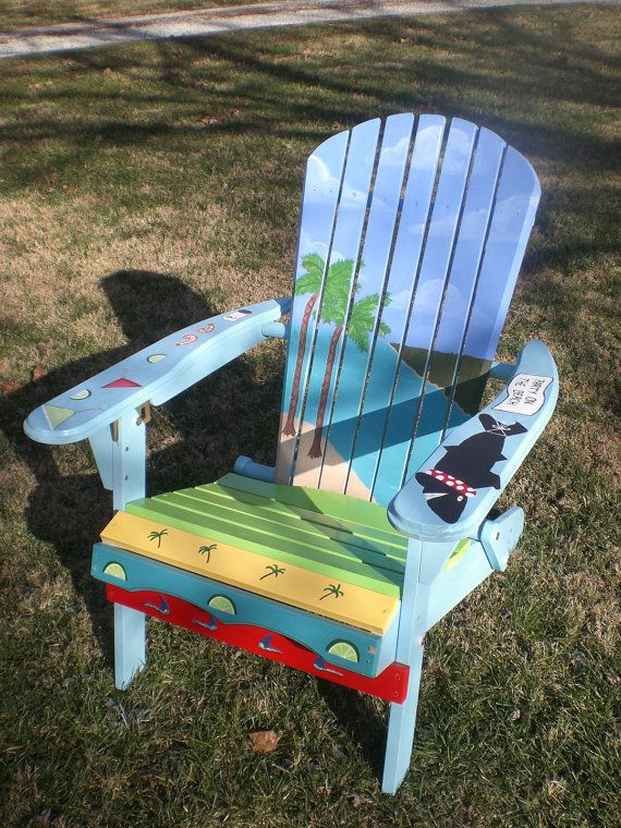 Paint For Adirondack Chairs Pink Fur Chair Hand Painted With An By Lelolaartisticdesign 175 00 The Home Pinterest And