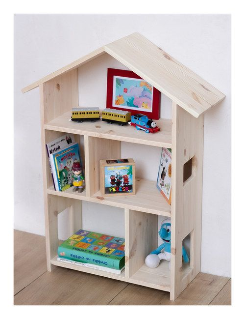 polička, knihovna, domeček pro panenky - větší