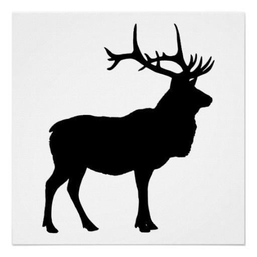Elk Silhouette Print