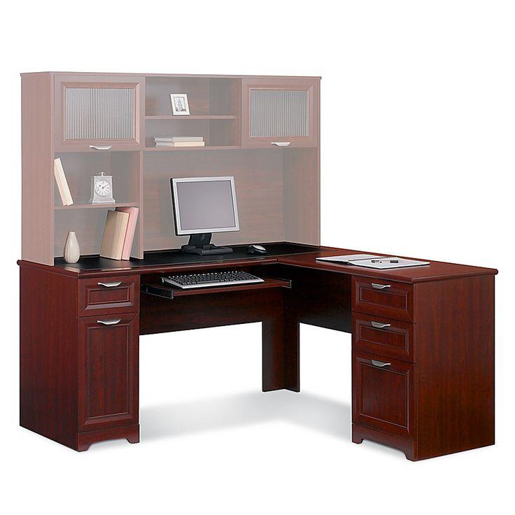 desk hutch realspace broadstreet contoured u shaped desk 30h x 65w