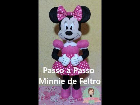 DIY  Minnie de Feltro passo a passo #Parte 1 - YouTube