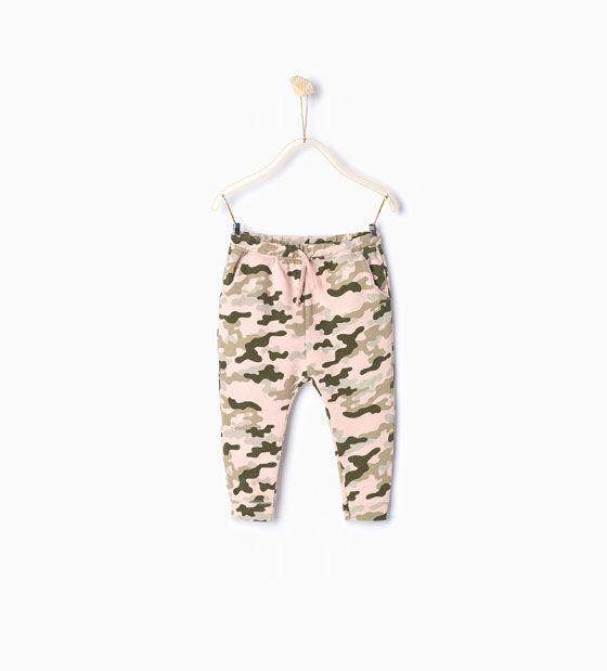 ZARA - KIDS - Camouflage plush trousers