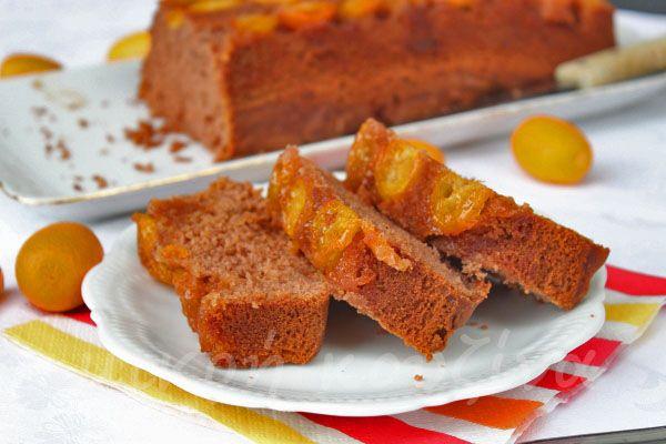 μικρή κουζίνα: Αναποδογυρισμένο κέικ με κουμ κουάτ