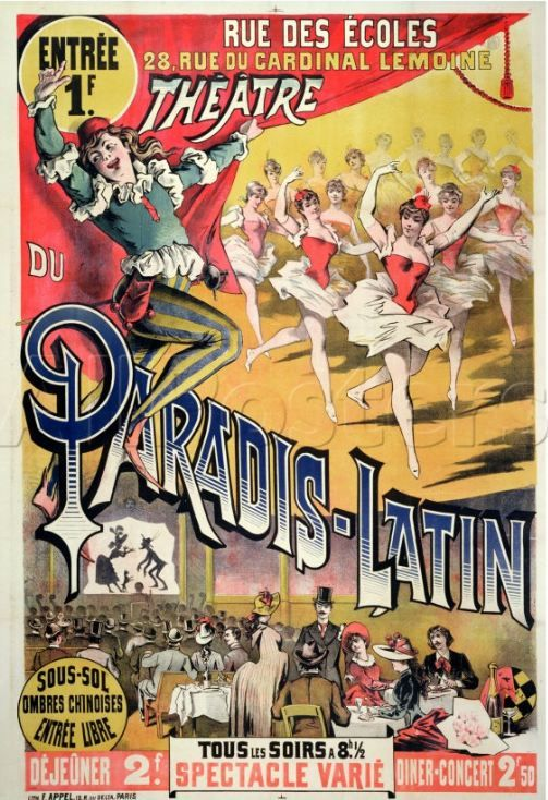 Paradis Latin ancienne affiche