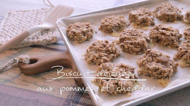 Biscuit-déjeuner aux pommes et au cheddar | Cuisine futée, parents pressés