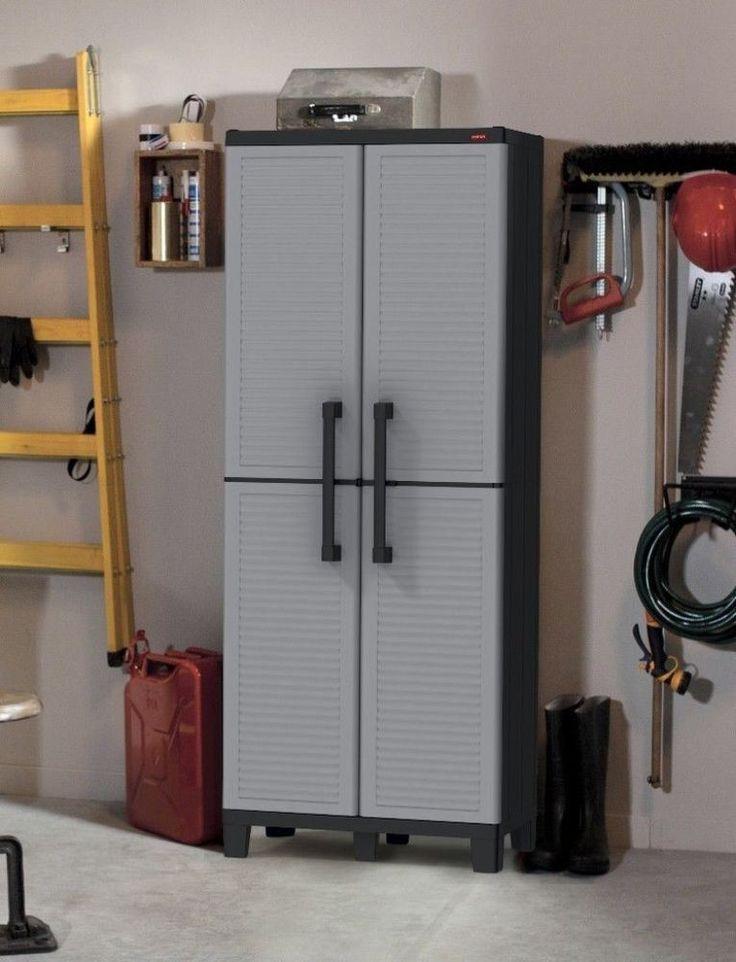 Storage Utility Cabinet Indoor Outdoor Furniture With Adjustable Shelves #storage