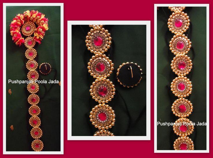 Beads jadabillalu & artificial flowers veni