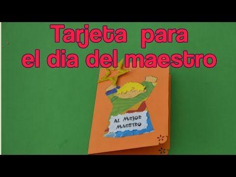 Tarjetas Para El Dia Del Maestro- Como Hacer una Tarjeta Para El Dia Del Maestro - YouTube