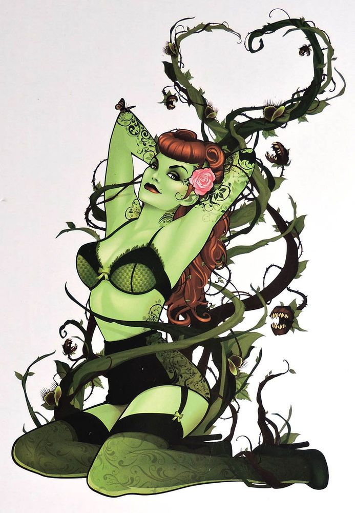 ESS115. DC Comics BOMBSHELLS POISON IVY L/E Cold-Cast Porcelain Statue (2014) in Collectibles | eBay