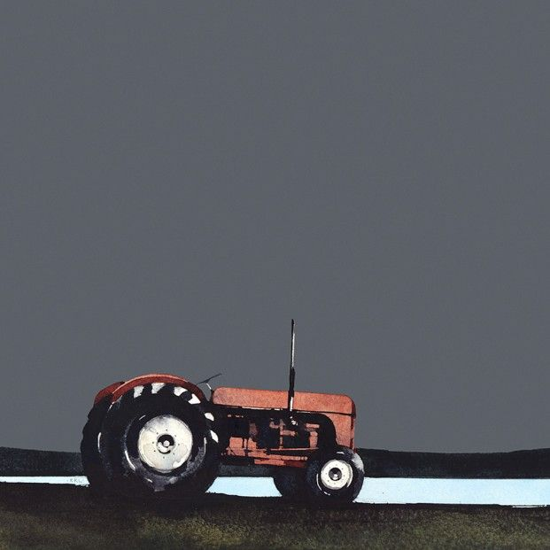 Ron Lawson, Old Red Tractor. Signed Limited Edition print | Scottish Contemporary Art