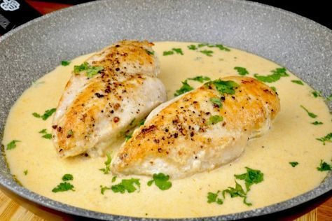 Chicken breast in a garlic parmesan sauce