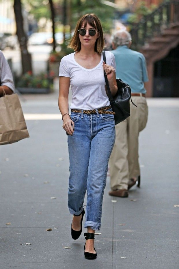 dakota johnson new york nyc outfit style