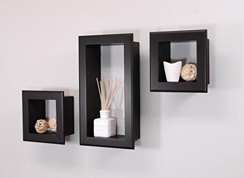 nexxt Frame Cubbies Shelf, Black, Set of 3 nexxt