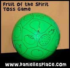 Fruit Of The Spirit Toss Game From Daniellesplace