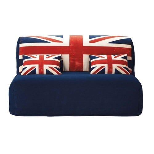 Housse de canapé BZ imprimée Union Jack en coton