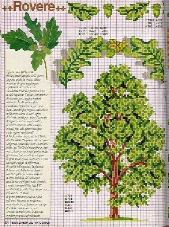 beautiful tree cross stitch