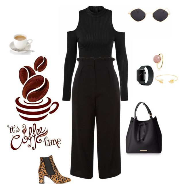 """""""Coffee time"""" by ilae ❤ liked on Polyvore featuring Tabitha Simmons, Topshop and Lord & Taylor"""