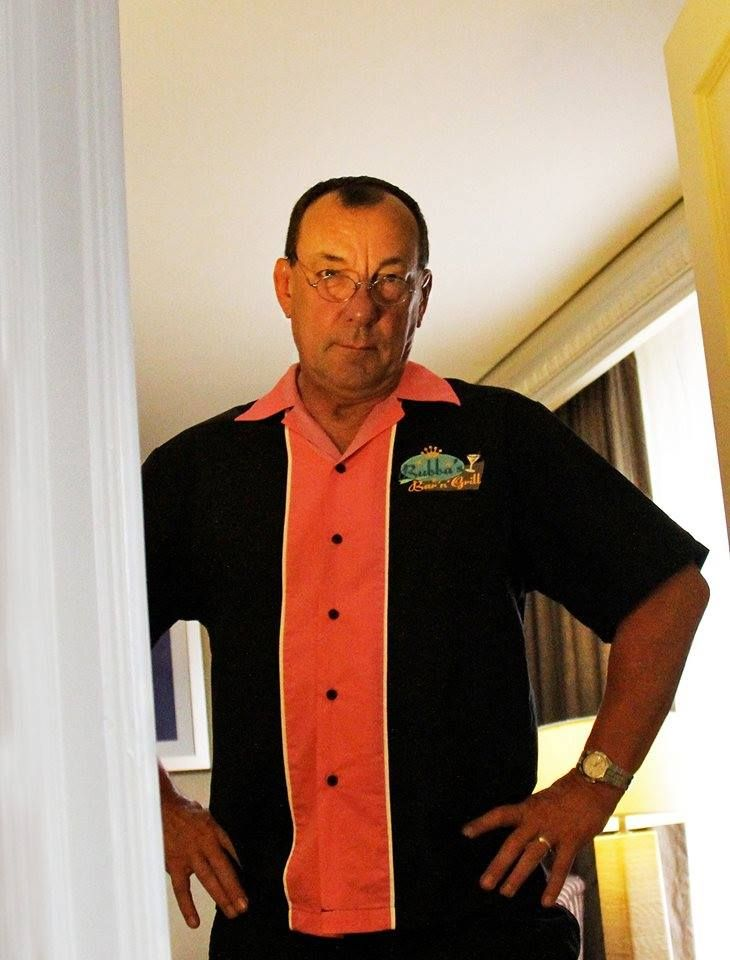 Bubba's custom bowling shirt is da bomb. (Neil Peart, that's such a great look for you! Hahahaha!)