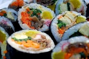 Kimbap (Korean sushi - minus the fish)