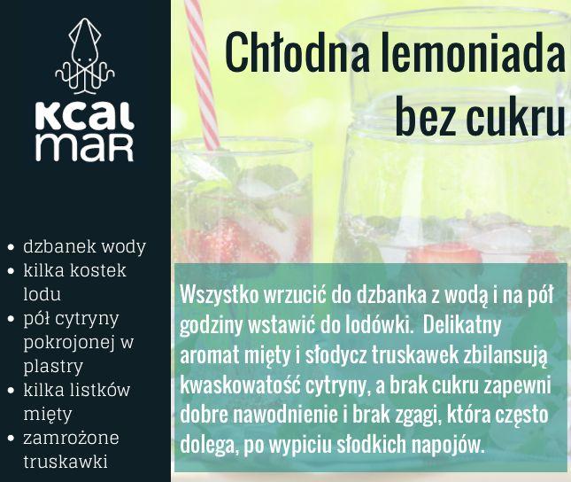 Chłodna lemoniada bez cukru