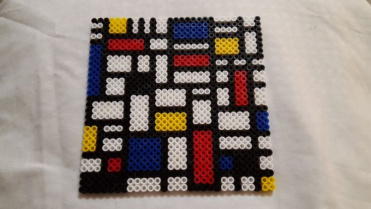 Inspired Mondrian perler beads by xofre
