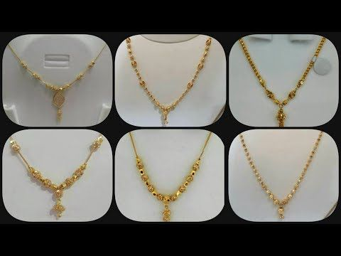 80514940361 Gold Necklace For Women Under 10Grams | Simple Light Weight DialyWear  Jewelry Designs - YouTube