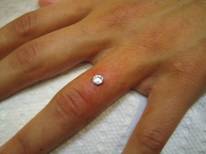 Finger Dermal PeircingIf Only I Didnt Use My Hand