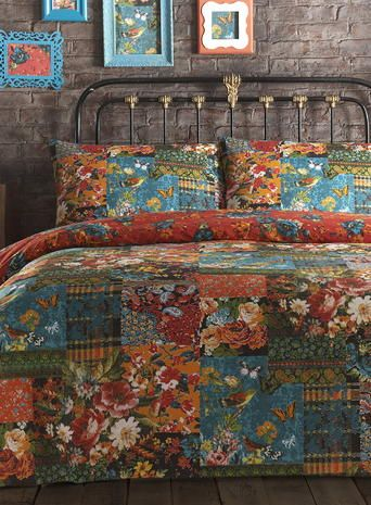 Vintage Tapestry Patch Bedding Set