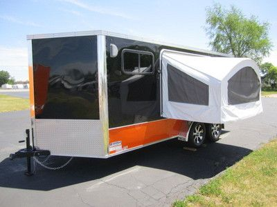 Enclosed Motorcycle Trailer Great Idea Add Bed Pop Out