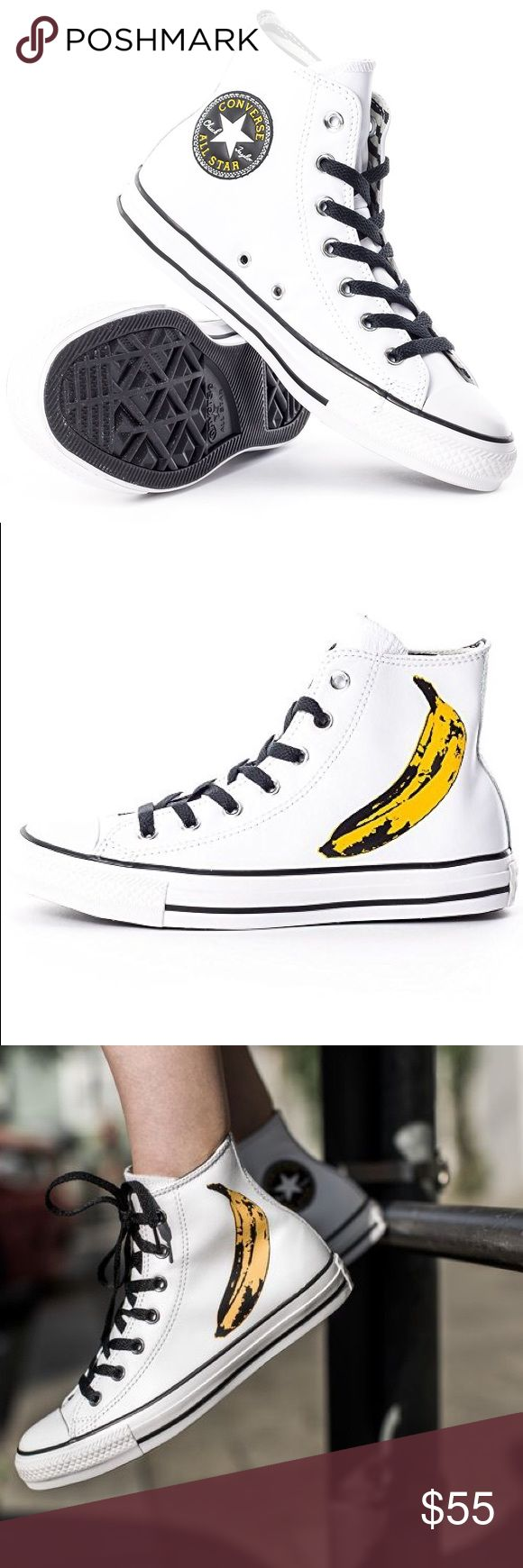 🌴☀️SALE! Converse white Andy Warhol womens size 7 Brand new without box Converse Shoes Sneakers