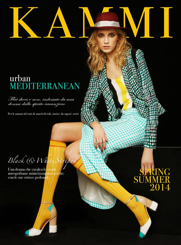 Urban Mediterranean - scarpe Kammi per un donna alternativa #scarpe #donna #shoes #retro #style #collection #catalogo #spring #summer #2014