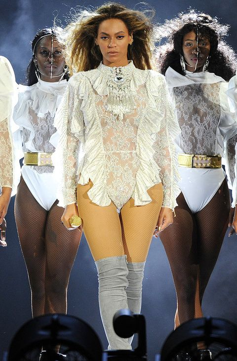 The Sexiest Outfits from the First Night of Beyoncé's Formation Tour from InStyle.com