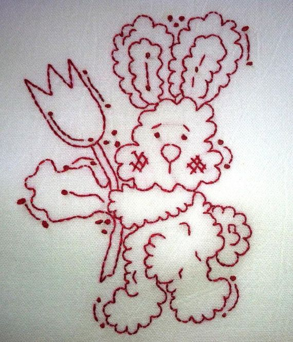 Fluffy Bunny with Tulip