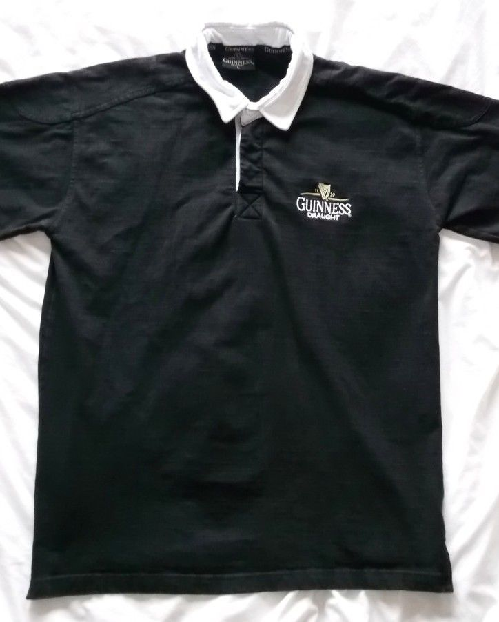 GUINNESS 2006 Rugby Men's Black Size Large Jersey Shirt #Guinness #RugbyShirts