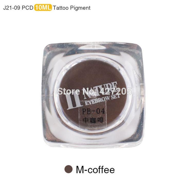PCD Permanent Makeup Ink Lip Tattoo Ink Set Eyebrow Microblading Pigment Professional Encre A Levre 10ML 3PCS/Lot M-Coffee J21