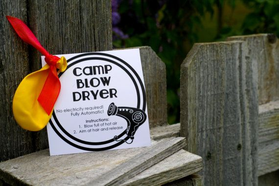 Girls camp handout - Blow dryer INSTANT download  / Young Women LDS quotes