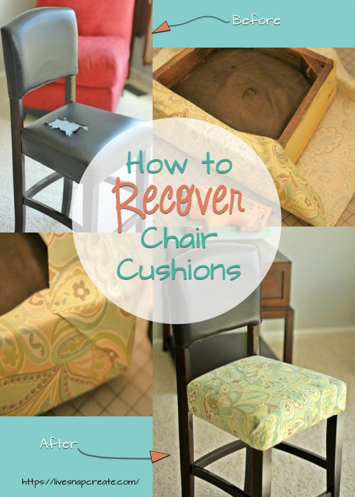 How To Recover Chair Cushions Chair Cushions Diy Furniture