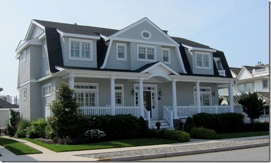 Grey House + White Trim = Perfection