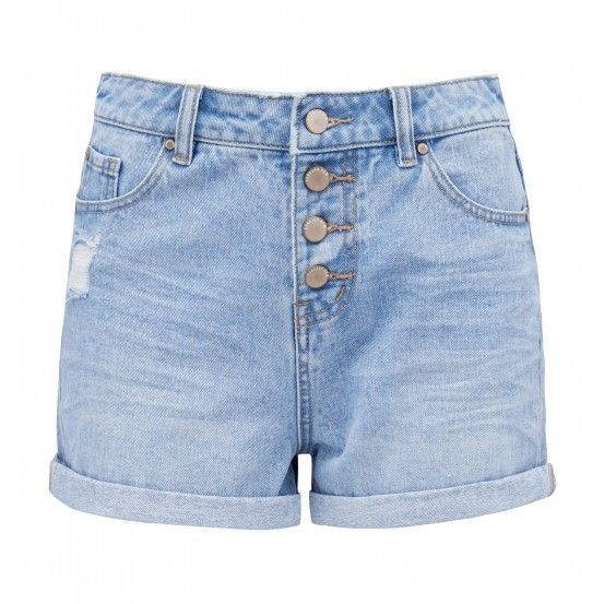 Charlotte Exposed Button Fly Short