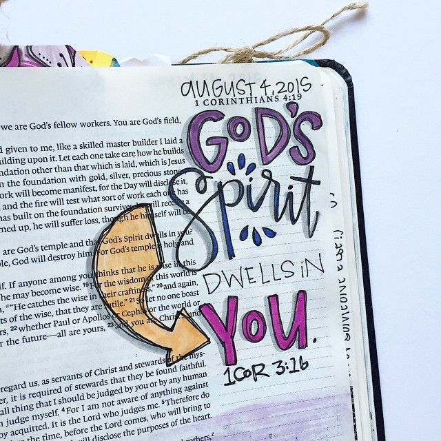 """""""Do you not know that you are God's temple and that God's Spirit dwells in you?"""" 1 Cor 3:16 
