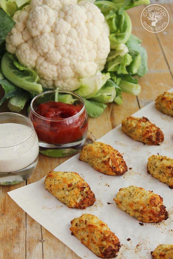 Cocinando entre Olivos: Tots o croquetas de coliflor al horno. Receta paso a paso.