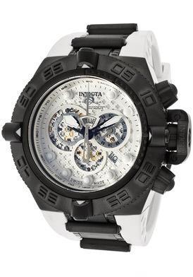 Men's Subaqua Noma IV Chronograph White Textured Dial White Polyurethane - Invicta Watch .