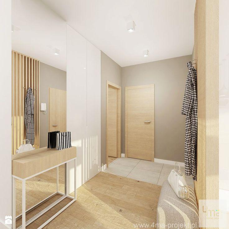 Projekt mieszkania 53 m2 na Żoliborzu - Hol / przedpokój, styl nowoczesny - zdjęcie od 4ma projekt